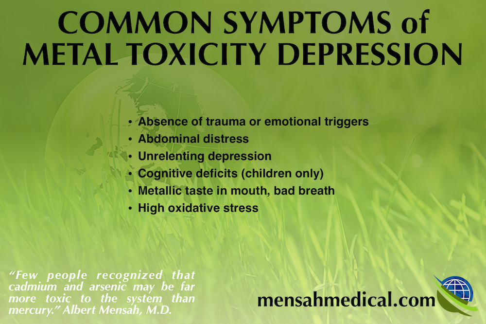 learn about the common symptoms of metal toxicity depression