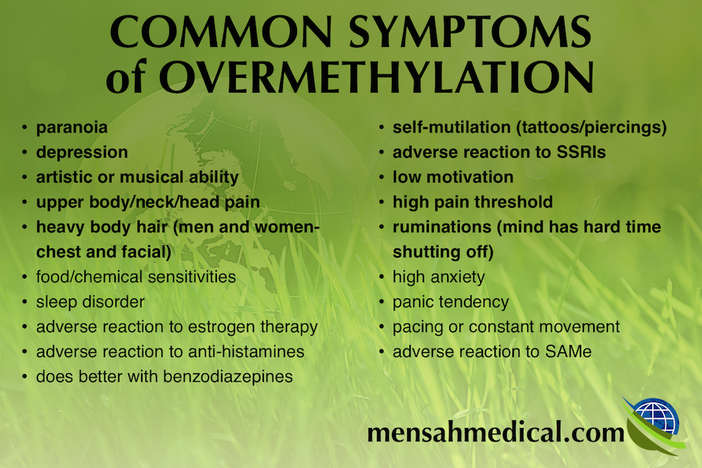 the common symptoms of overmethylation