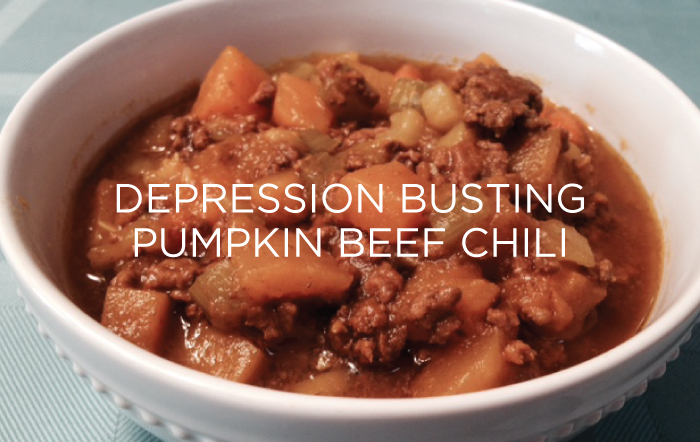 Depression Busting Pumpkin Beef Chili by Sami G