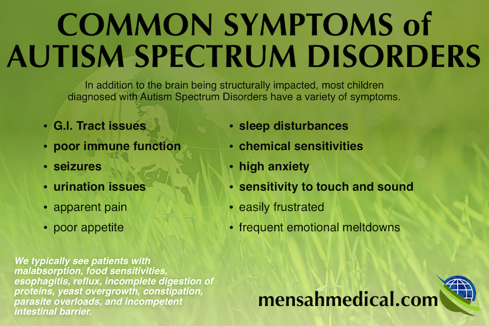 Common Symptoms Autism Spectrum Disorders